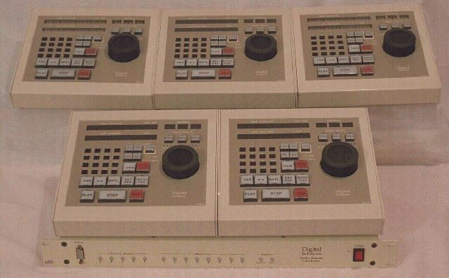 Image of five control panels and one coordinator rack